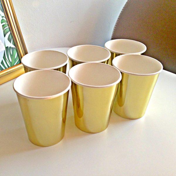Комплект златисти картонени чаши