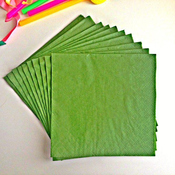 Зелени салфетки